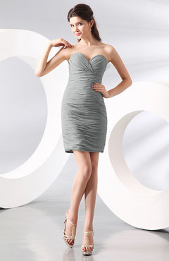 Platinum Sexy Column Sweetheart Zip up Chiffon Short Club Dresses