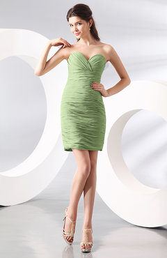 Sage Green Sexy Column Sweetheart Zip up Chiffon Short Club Dresses