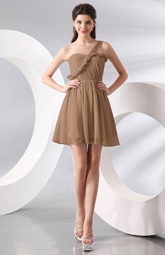 Light brown color cocktail dresses page 2 for Brown dresses for wedding guest