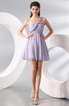 Elegant A-line One Shoulder Chiffon Short Ruching Wedding Guest Dresses