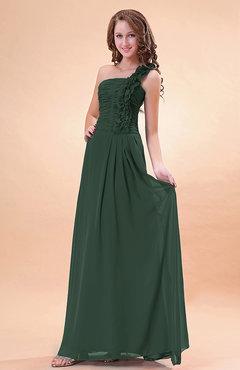 Emerald Green Bridesmaid Dresses Modest - UWDress.com