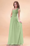 Modern A-line One Shoulder Zip up Chiffon Floor Length Bridesmaid Dresses