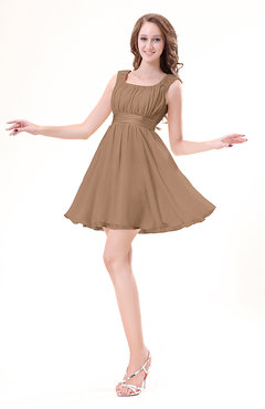 Light brown color club dresses for Brown dresses for wedding guest