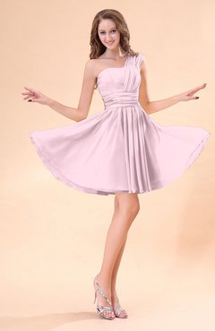Blush Cute A-line Sleeveless Mini Ruching Wedding Guest Dresses