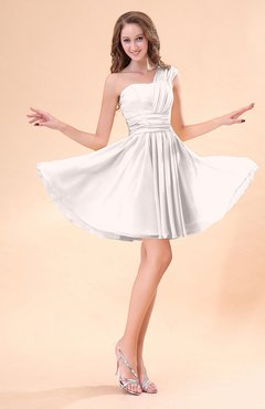 Light Pink Cute A-line Sleeveless Mini Ruching Wedding Guest Dresses