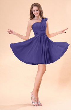 Royal Purple Cute A-line Sleeveless Mini Ruching Wedding Guest Dresses