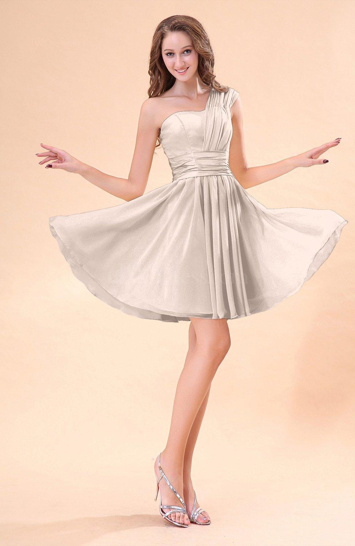 Silver Peony Cute A-line Sleeveless Mini Ruching Wedding ...