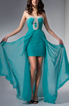 Modern Sweetheart Zip up Chiffon Sequin Evening Dresses