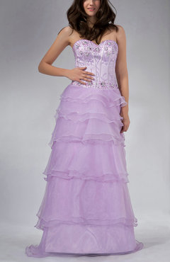 Begonia Romantic Column Sleeveless Organza Floor Length Wedding Guest Dresses