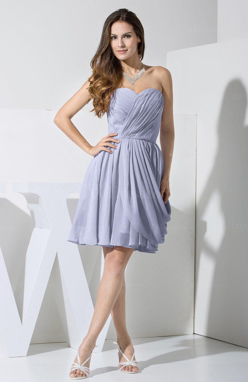 Sweetheart Chiffon Knee Length Dress