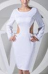 Sexy Column Long Sleeve Backless Satin Club Dresses
