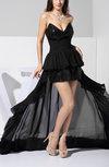 Gorgeous Column Sleeveless Chiffon Hi-Lo Ruffles Evening Dresses