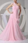 Elegant A-line Asymmetric Neckline Zipper Floor Length Pearls Prom Dresses