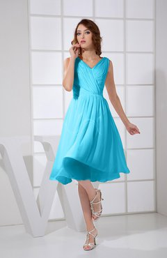 Turquoise Knee Length Dress