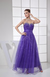 Romantic A-line Sweetheart Organza Floor Length Rhinestone Evening Dresses
