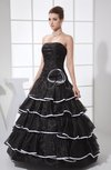 Fairytale A-line Strapless Sleeveless Zipper Flower Evening Dresses
