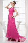 Simple A-line V-neck Sleeveless Criss-cross Straps Hi-Lo Evening Dresses