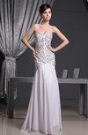 Elegant Trumpet Zipper Chiffon Floor Length Sequin Prom Dresses
