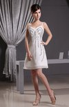Elegant Spaghetti Zipper Chiffon Beaded Party Dresses