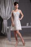 Elegant Spaghetti Zipper Chiffon Beaded Party Dresses
