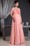 Disney Princess Scalloped Edge Sleeveless Chiffon Floor Length Bridesmaid Dresses