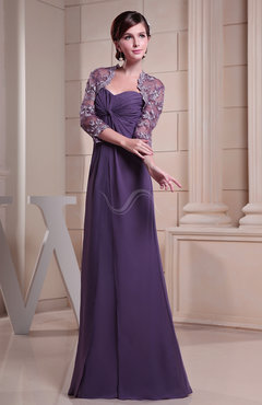 Dark Purple Casual Sheath Sweetheart Backless Chiffon Ruching Evening Dresses
