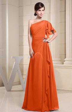 Tangerine Color Bridesmaid Dresses US$100.00 - US$199.99 - UWDress.com