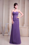 Plain Sleeveless Backless Chiffon Floor Length Ruching Homecoming Dresses