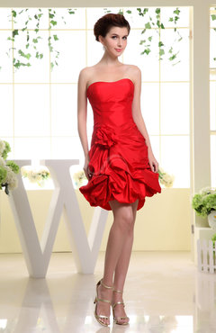 Cute Sweetheart Backless Mini Flower Homecoming Dresses
