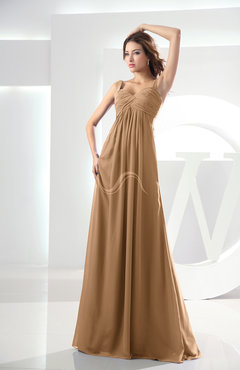 Chiffon Bridesmaid Dresses Light Brown color - UWDress.com