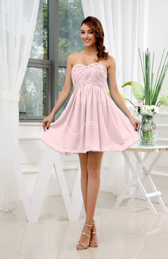 Blush Informal Sleeveless Zip up Short Ruching Party Dresses