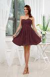 Informal Sleeveless Zip up Short Ruching Party Dresses
