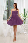 Informal Sleeveless Zip up Short Ruching Party Dresses