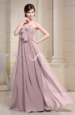 Blush Simple Empire Zipper Chiffon Floor Length Evening Dresses