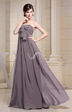 Cameo Simple Empire Zipper Chiffon Floor Length Evening Dresses