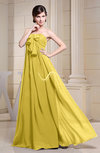 Simple Empire Zipper Chiffon Floor Length Evening Dresses