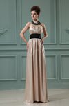 Vintage Sheath Sleeveless Elastic Woven Satin Sash Bridesmaid Dresses