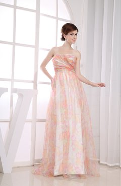 Elegant Empire Sleeveless Floor Length Ruching Party Dresses