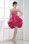 Cute Baby Doll Sleeveless Short Beaded Prom Dresses