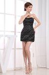 Plain Column Strapless Sleeveless Beaded Club Dresses