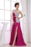 Sexy Column Sleeveless Backless Chiffon Prom Dresses