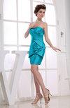 Plain Column Sleeveless Backless Mini Prom Dresses