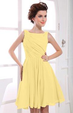 daffodil color bridesmaid dresses bateau - uwdress