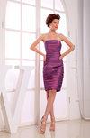 Casual Sleeveless Backless Knee Length Ruching Bridesmaid Dresses
