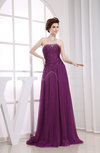 Gorgeous Strapless Sleeveless Zipper Court Train Ruching Prom Dresses