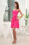 Romantic Sleeveless Zip up Chiffon Mini Bridesmaid Dresses