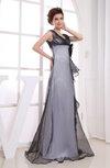 Elegant V-neck Sleeveless Zipper Floor Length Prom Dresses