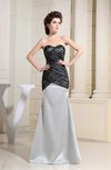 Elegant Column Sweetheart Sleeveless Zip up Bridesmaid Dresses
