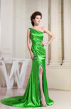 Gorgeous Sleeveless Zipper Silk Like Satin Ruching Evening Dresses
