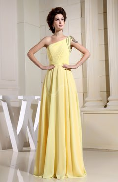 Elegant A-line Sleeveless Backless Chiffon Ruching Evening Dresses